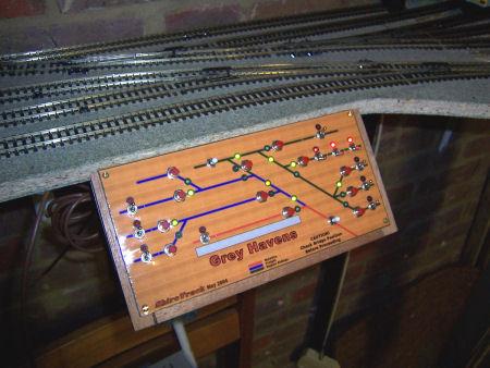 Model railway control panel box error